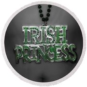 Irish Princess Round Beach Towel
