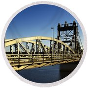 Iron Bridge Round Beach Towel