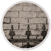 Iron Fence - New Orleans Round Beach Towel