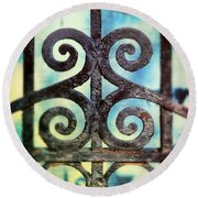 Iron Gate Detail Round Beach Towel