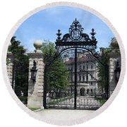 Iron Gate - The Breakers - Rhode Island Round Beach Towel