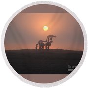 Iron Horse II Round Beach Towel