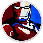 Iron Man 2 Round Beach Towel by Barbara McMahon