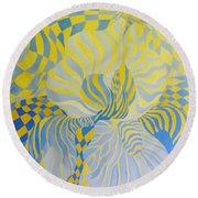 Irreverant Iris Round Beach Towel