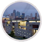 Irs Complex In Downtown Kansas City Mo Round Beach Towel