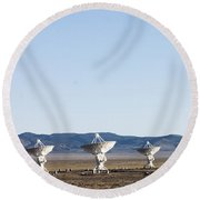 Is There Something Out There Round Beach Towel