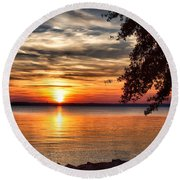 Is This Heaven? Round Beach Towel