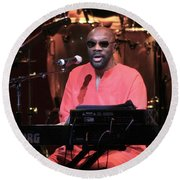 Isaac Hayes Round Beach Towel