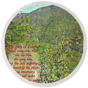 Isaiah 60 13 Round Beach Towel