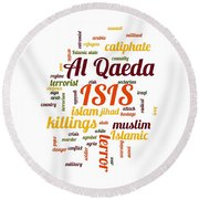 Isis Round Beach Towel