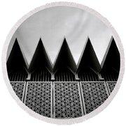 Islamic Geometry Round Beach Towel