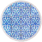 Islamic Tiles 01 Round Beach Towel