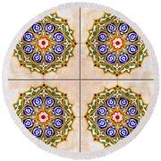 Islamic Tiles 03 Round Beach Towel