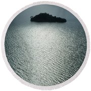 Lugu Lake Island And Ripples China Round Beach Towel