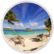 Island Breeze Round Beach Towel