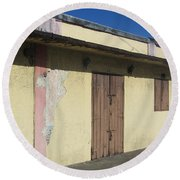 Island Decay Building Round Beach Towel