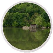 Island House On New River - West Virginia Round Beach Towel