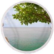 Island Hues Round Beach Towel