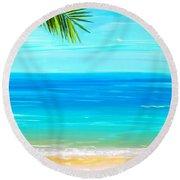 Island Paradise Round Beach Towel