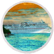 Island Passage Round Beach Towel