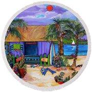 Island Time Round Beach Towel by Patti Schermerhorn