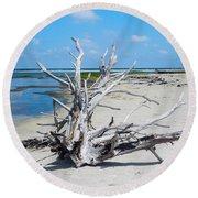 Island Tree Round Beach Towel