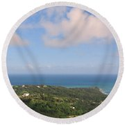 Island View From High Round Beach Towel