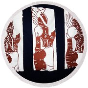 Islands Of Light Round Beach Towel