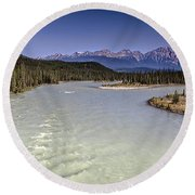 Islands On The River In Jasper Round Beach Towel