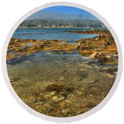 Isle Au Haut Beach Round Beach Towel by Adam Jewell