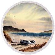 Isle Of Mull Scotland Round Beach Towel