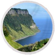 Isle Of Skye Sea Cliffs Round Beach Towel
