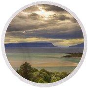 Isles Of Eigg And Rum Round Beach Towel