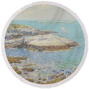 Isles Of Shoals Round Beach Towel by Childe Hassam