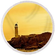 Isles Of Shoals Round Beach Towel