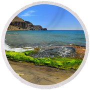 Isleta Del Moro Beach Round Beach Towel