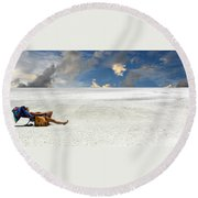 Isn't Life Strange Round Beach Towel