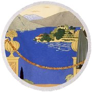 Isola Bella Round Beach Towel