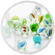 Isolated Marbles Round Beach Towel