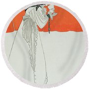 Isolde Drinking The Poison Round Beach Towel