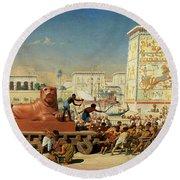 Israel In Egypt, 1867 Round Beach Towel