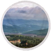 Israel Latron Monastery And Winery Round Beach Towel