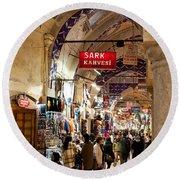 Istanbul Grand Bazaar 09 Round Beach Towel