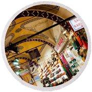 Istanbul Grand Bazaar 11 Round Beach Towel