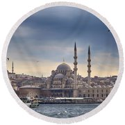 Istanbul Skyline Round Beach Towel