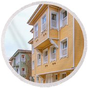 Istanbul Wooden Houses 02 Round Beach Towel