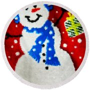 It Is Christmas Time Round Beach Towel