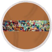 It Is Fitting To Feel The Pain Of Others Round Beach Towel by David Baruch Wolk