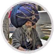 Its All In The Head - Rishikesh India Round Beach Towel