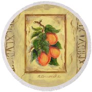 Italian Fruit Apricots Round Beach Towel